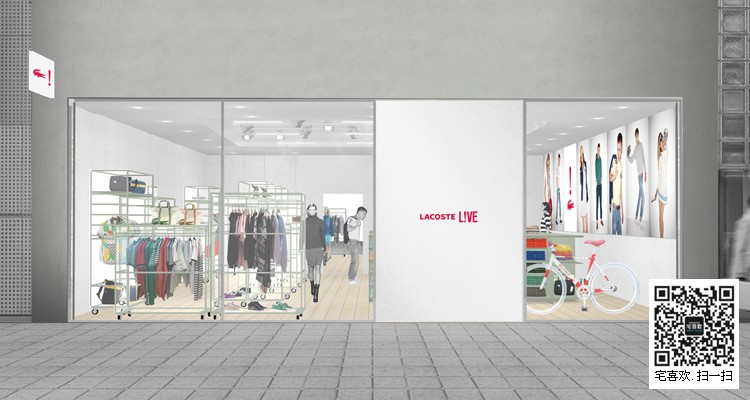 鳄鱼lacoste专卖店日本casereal设计_模特道具,陈列道具,橱窗道具