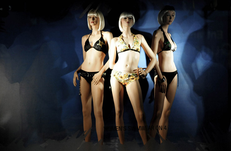 以下是2014年lv春夏泳装模特造型设计
